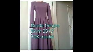 Burda Dergisinden Diktiğim Elbise Modelleri