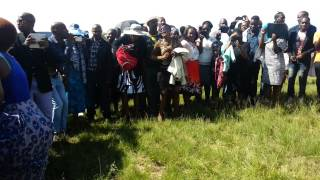 Mamazala dancing at funeral in Mamelodi grave side