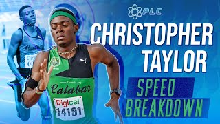 Christopher Taylor 100M Sprint Breakdown
