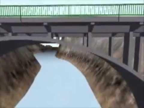 ¿Como intervienes las fuerzas en la construcción de un puente colgante