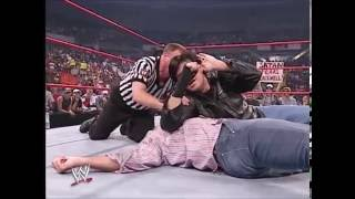 WWE - Kane Destroy Shane McMahon With Tombstone Steel Step - Raw 08/04/2003