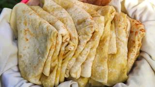 SOFT & TASTY Dhalpourie Roti (dhalpuri) - DETAILED step by step instructions - VEGAN