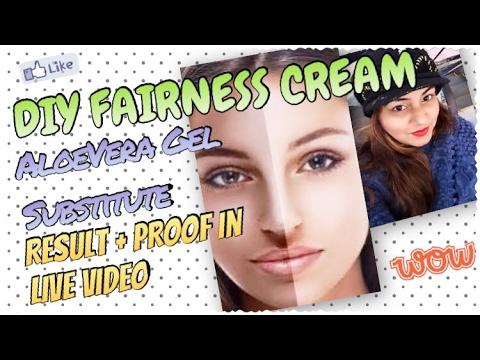 DIY FAIRNESS Cream - RESULT/PROOF in LIVE Video | AloeVera Gel Substitute | Homemade FAIRNESS Gel