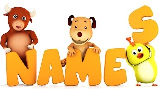 Learn Animal Names | Animal Song | 3d Kids Videos by Farmees S01E32