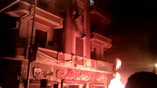 حرق محتويات مقر الاخوان فى دمنهور