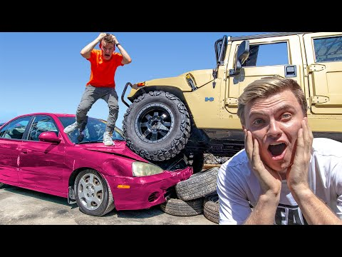DESTROYING MY FRIENDS CAR AND BUYING HIM THE EXACT SAME CAR