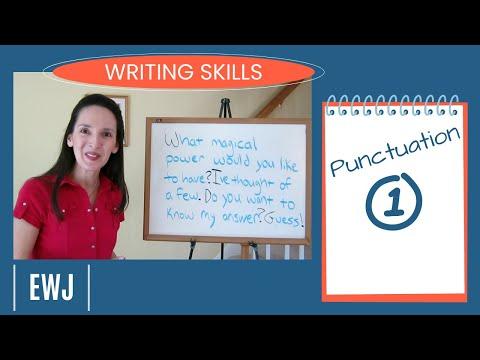 English Writing Skills 1: Sentence Punctuation