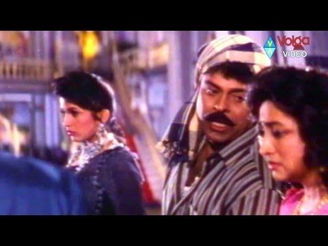 Chiranjeevi with wife ramya krishna romantic comedy   Aunty Lakshmi temperament