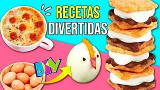 Las MEJORES RECETAS con MARSHMALLOWS, CHOCOLATE, S'MORES, PUSH UP POPS y PIZZA en 1 MINUTO!