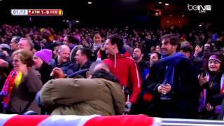Fernando Torres Goal vs Barcelona English Commentary (28/01/2015)