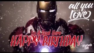 Ironman Happy Birthday Video