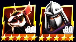 MAX LEVEL 80 SPLINTER vs SHREDDER BOSS (TMNT LEGENDS)