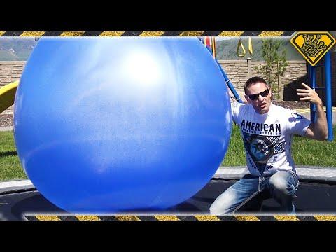 Filling Giant 6 FT BALLOONS with Liquid Nitrogen!