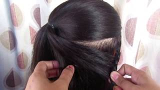 Beautiful Medium Hair Hairstyle For Partys & Wedding