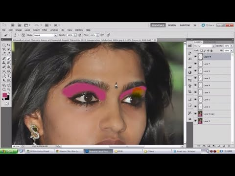 Soften Skin and Add Makeup | Photoshop Tutorial in Telugu