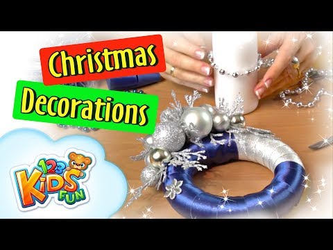 🎄 DIY by Creative Mom #2 🎄 how to make do it yourself gifts making Christmas Wreath 123 kids fun