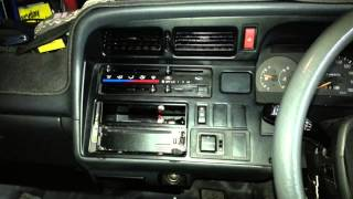 How to remove the factory radio from a Toyota Hiace