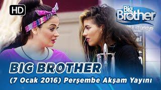 Big Brother Türkiye (7 Ocak 2016) Perşembe Akşam Yayını - Bölüm 49