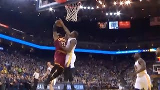LeBron James BLOCKED by Kevin Durant, Steph Curry & Klay Thompson RAIN 3s as Warriors Dominate Cavs