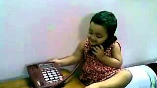 Bangla kid funny video - baby girl talking over phone 180820 - www.DeshiBoi.com.mp4