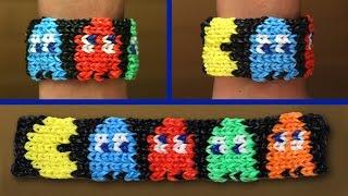 Rainbow Loom Nederlands - Pacman Armband    Loom bands, rainbow loom, tutorial, how to