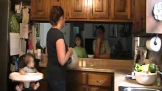 Breastfeeding mom tricks her older kids!