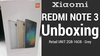 Xiaomi Redmi Note 3 Retail Unit Unboxing