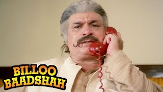 Kader Khan's Kills his Enemy - Billoo Badshah Action Scene