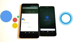 Google Assistant vs Cortana! (2017)