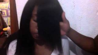 How to cut a side swept bang