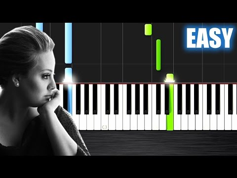 Adele - Someone Like You - EASY Piano Tutorial by PlutaX - Synthesia