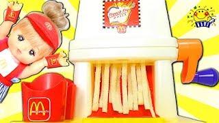 メルちゃん リカちゃん おもちゃ マクドナルド お店屋さんごっこ遊び❤️ハンバーガーをねんどで料理♪キッチンでジャム作り♪畑で野菜も収穫!Mell-chan doll たまごMammy