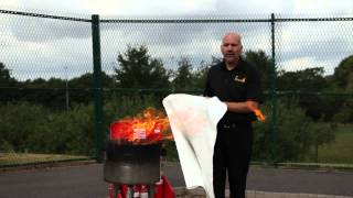 How to use a Fire Blanket - 1st Attendance Ltd