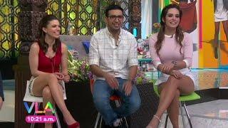 Tania Rincon & Tabata Jalil hot duel legs - Venga la Alegria - 03/03/16