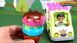 Best Preschool Toy Learning Video for Kids Learn Food Names Ice Cream Num Noms Lego Duplo Blocks Fun