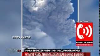 Video Amatir Merekam Dasyatnya Gunung Sinabung Meletus Lagi - Special Report 19/02