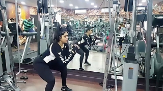 South Indian Actress Namitha's Workout Video.