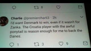 Croatia Wins Vs Denmark Tweet Reading