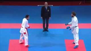 Male Team Kumite TURKEY vs EGYPT (3/5). 2014 World Karate Championships. Bronze Medal