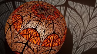 Making Of Nepenthis by Calabarte | From a Gourd To The Fractal Lamp