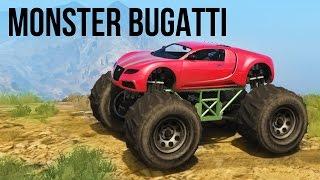 قراند 5 gtat تطعيس بسيارة البوقاتي مونستر اكتشاف الجبال