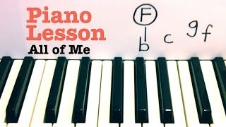 All of Me ★ Piano Lesson ★ EASY ★ John Legend