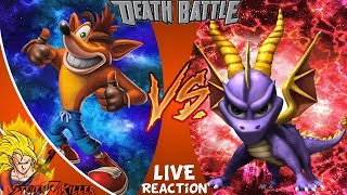 Crash VS Spyro _ DEATH BATTLE! LIVE STREAM REACTION!!!