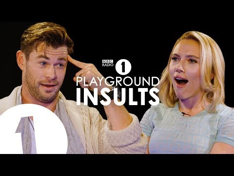 Chris Hemsworth and Scarlett Johansson Insult Each Other CONTAINS STRONG LANGUAGE