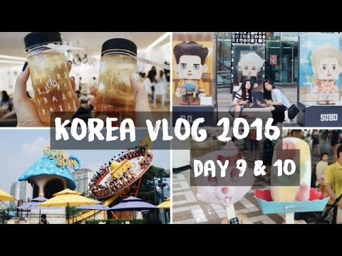 SEOUL, KOREA VLOG 2016 | Lotte World, SMTOWN Artium, Late Night Convenience Store Adventures!!