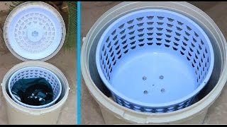 How to Make a SPIN DRYER using Bucket & Basket - Very Easy