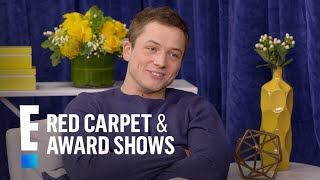 "Taron Egerton on Working With Channing Tatum in ""Kingsman"" 