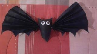 ♥ Murciélagos con tubos De Papel Higiénico ( Dulceros Colgantes) Halloween ♥