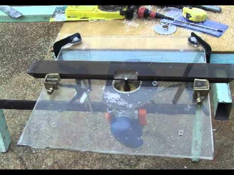 Cómo hacer una mesa portátil para fresadora ó router Mesarouter 3