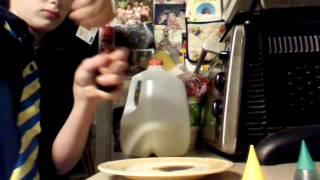 Milk, Food Dye and Dish Soap
